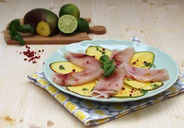 Carpaccio di pesce spada e mango