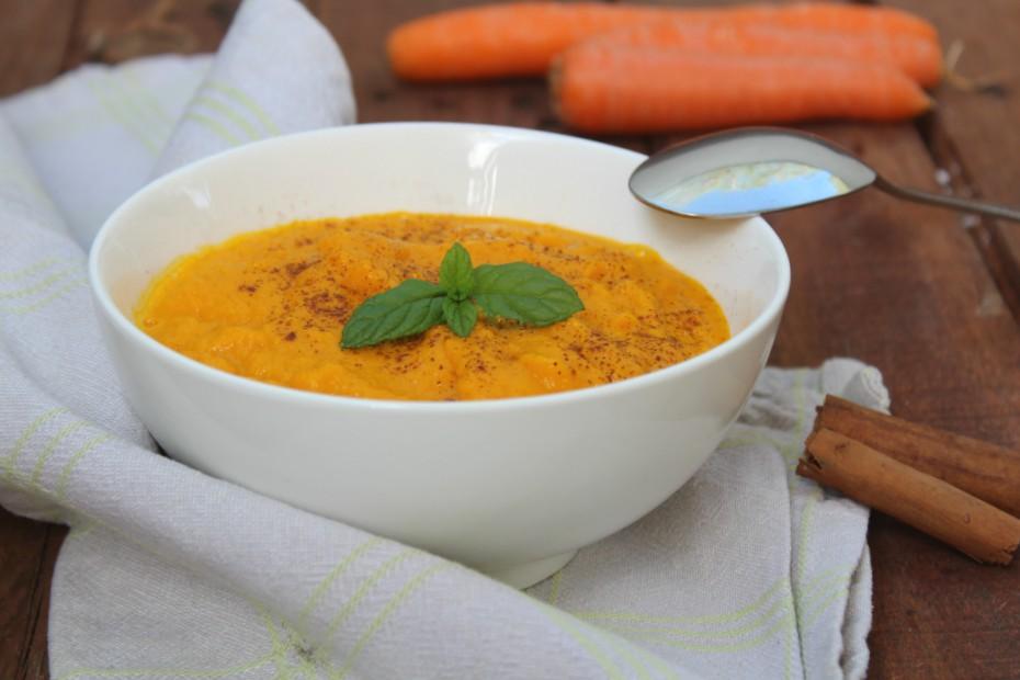 Vellutata di carote con cannella