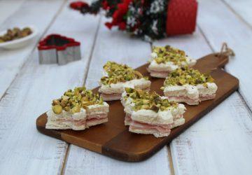 Tramezzini natalizi al pistacchio
