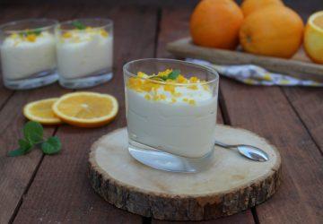 Mousse d'arancia senza uova