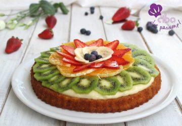 Crostata morbida alla frutta con crema pasticcera