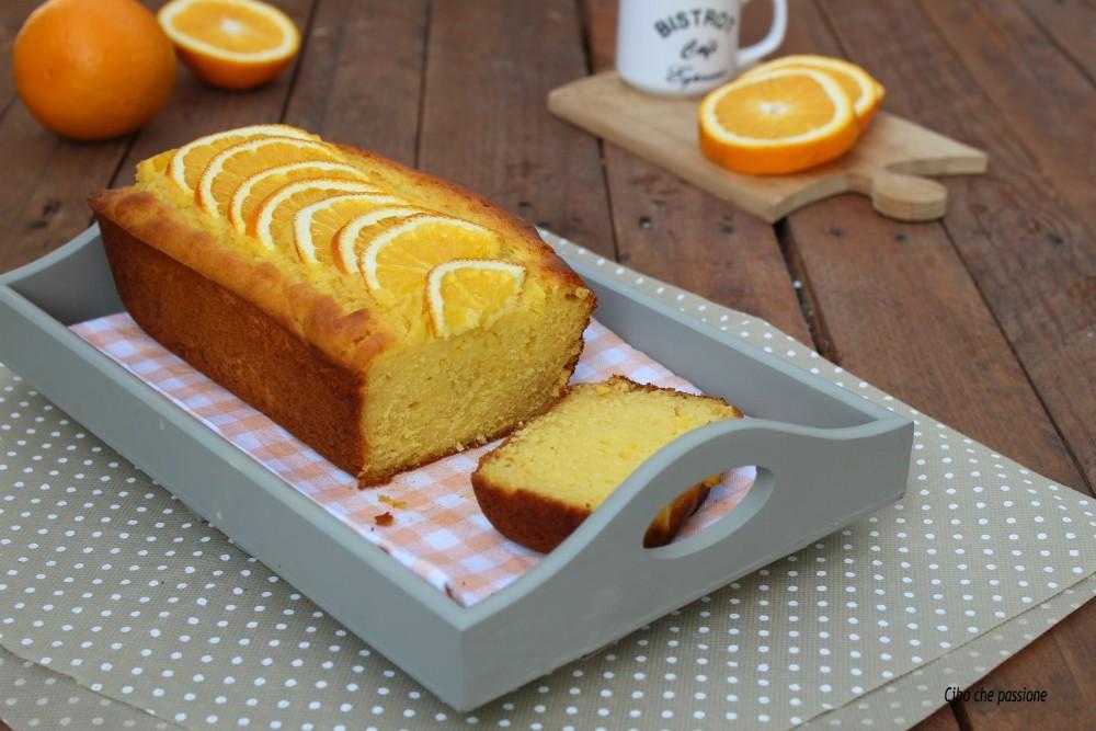 Plumcake all'arancia e ricotta