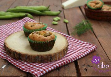 Muffin salati con fave e pecorino.