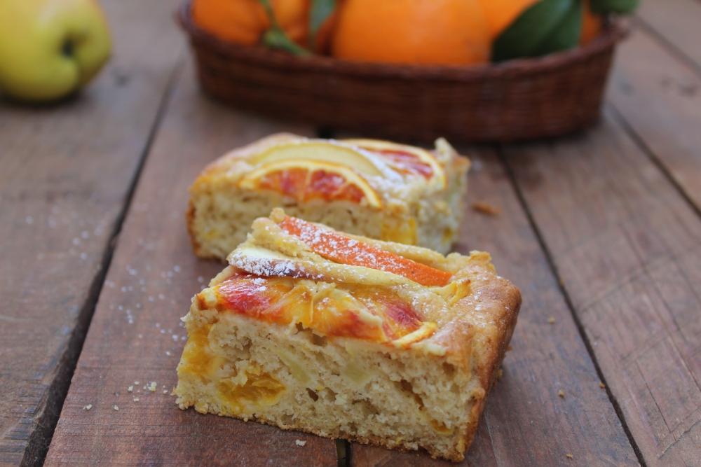 Torta con mele e arance SENZA BURRO