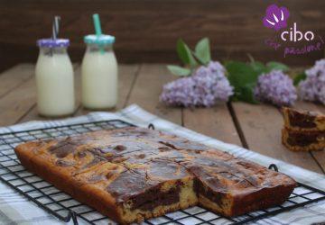 Torta bicolore cacao e vaniglia