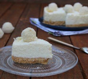 Cheesecake con crema al cocco