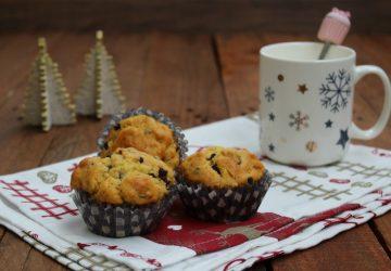 Muffin al Panettone con gocce di cioccolato