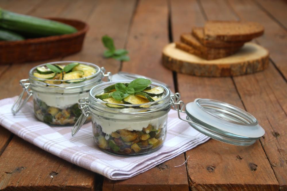 Mousse salata di ricotta con zucchine