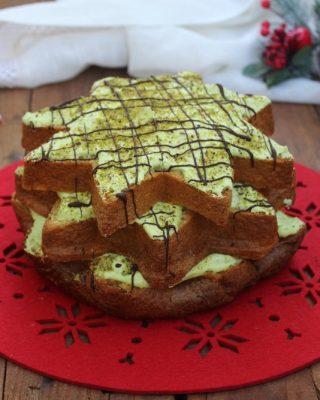 Pandoro farcito con mascarpone e pistacchio