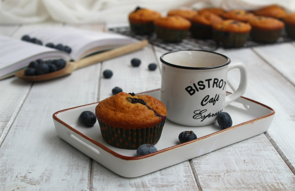 Muffin allo yogurt e mirtilli SENZA BURRO