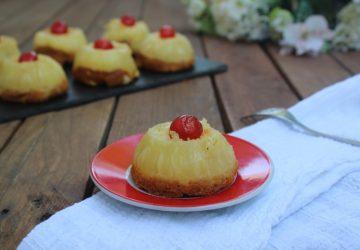 Cupcake rovesciati all'ananas