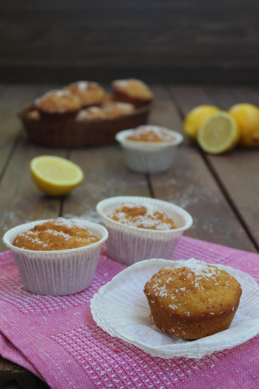 Muffin al limone e cocco SENZA BURRO