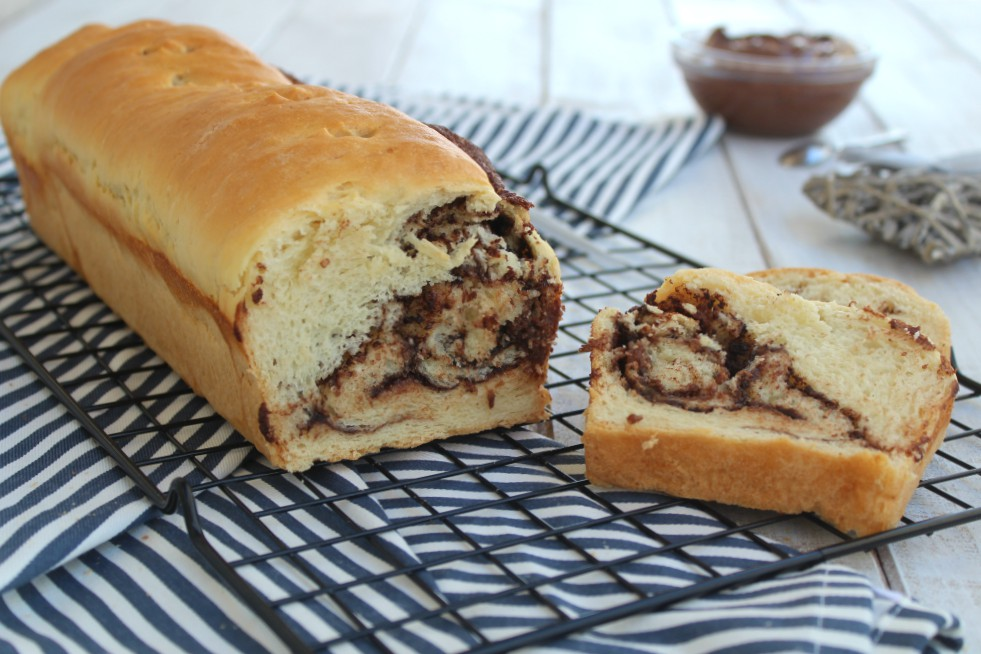 Rotolo di pan brioche alla nutella