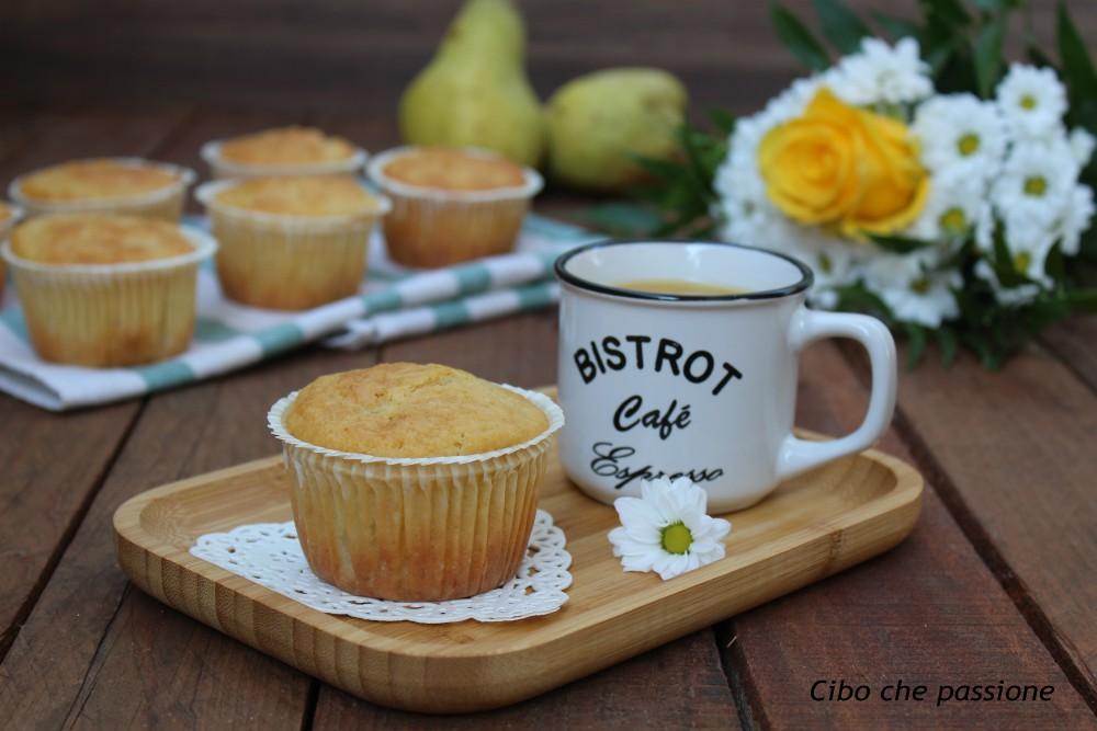 Muffin con pere e olio evo