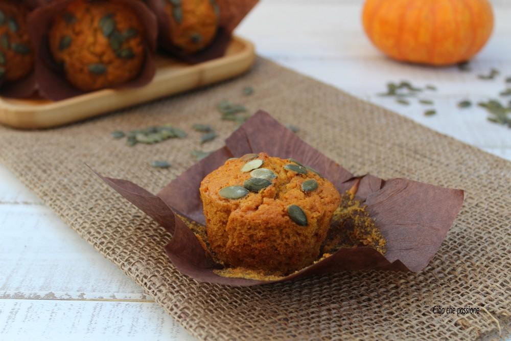 Muffin dolci con zucca e miele
