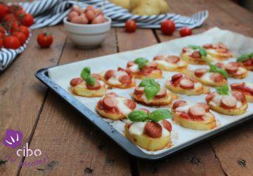 Pizzette di patate con wurstel