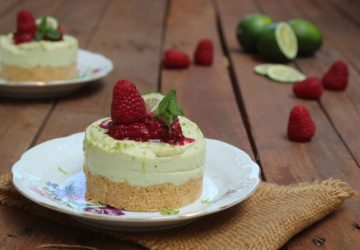Cheesecake all'avocado e lime