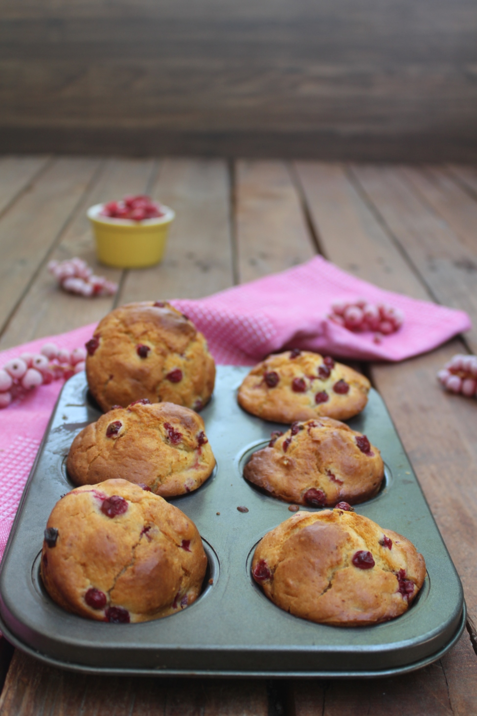 Muffin allo yogurt e ribes