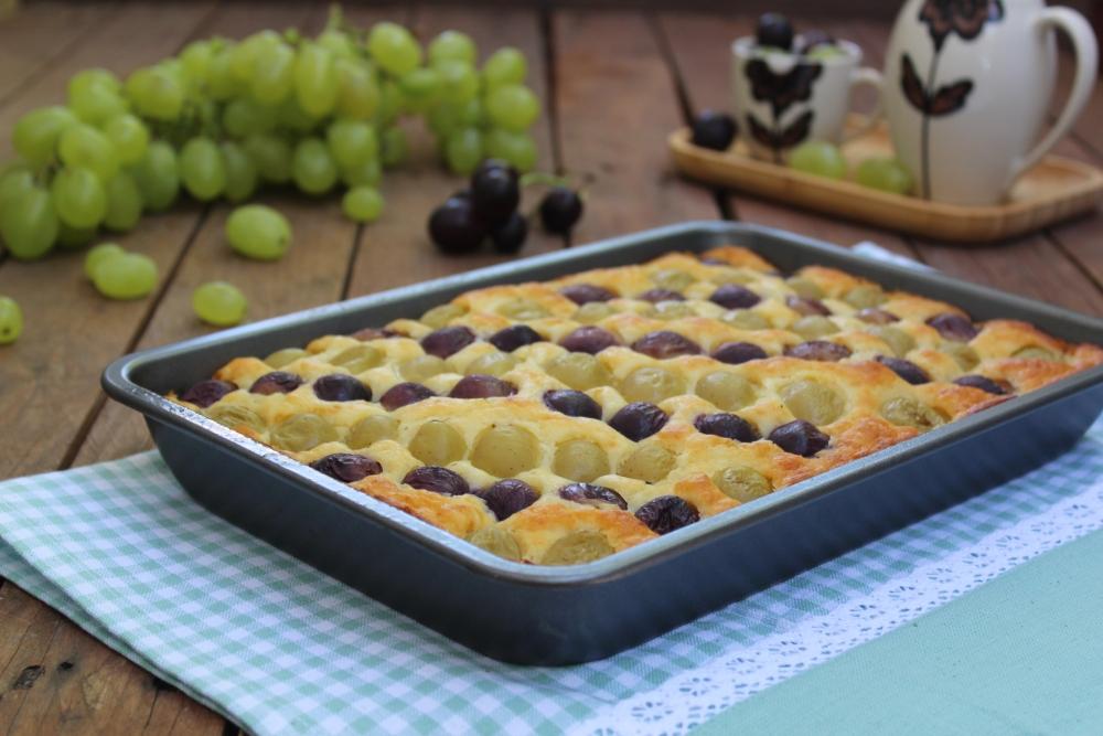 Torta soffice con uva SENZA BURRO