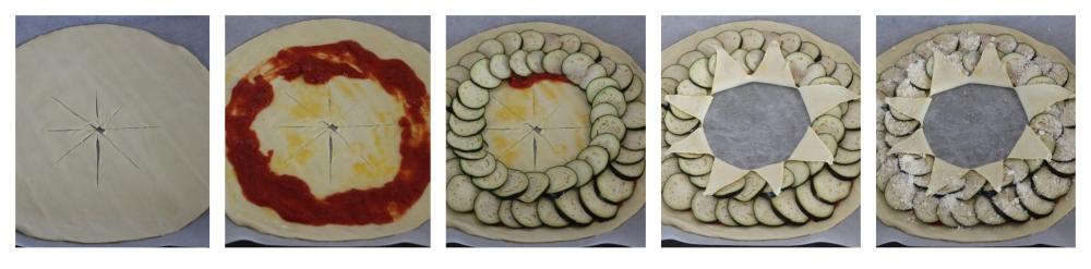 Torta corona con le melanzane
