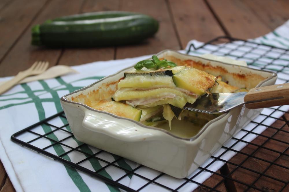 Parmigiana bianca con zucchine