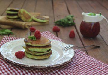 Pancake alla menta e lamponi
