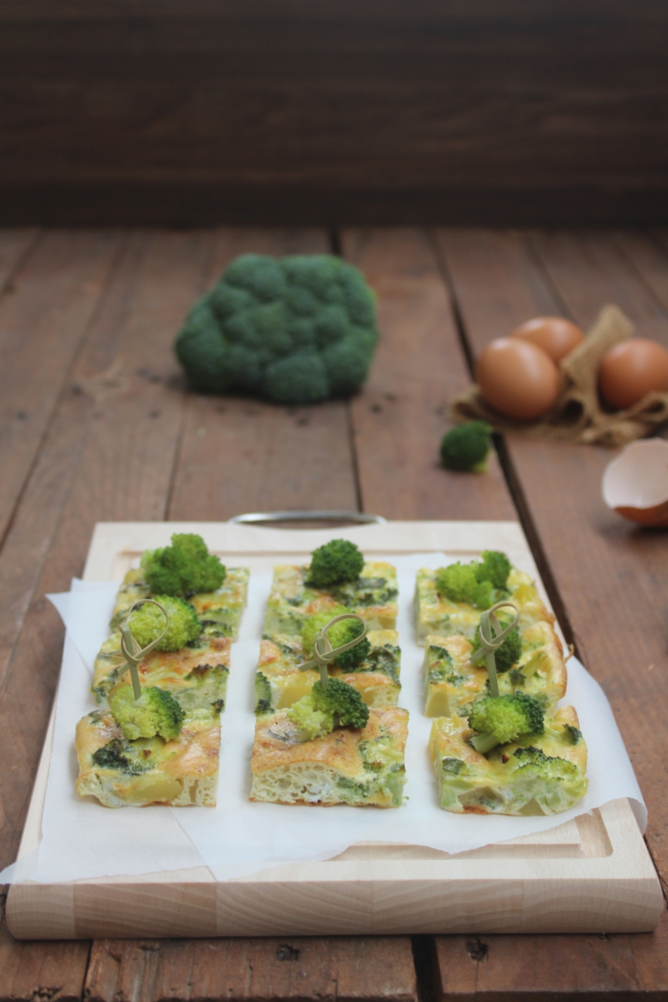 Frittata di broccoli e acciughe