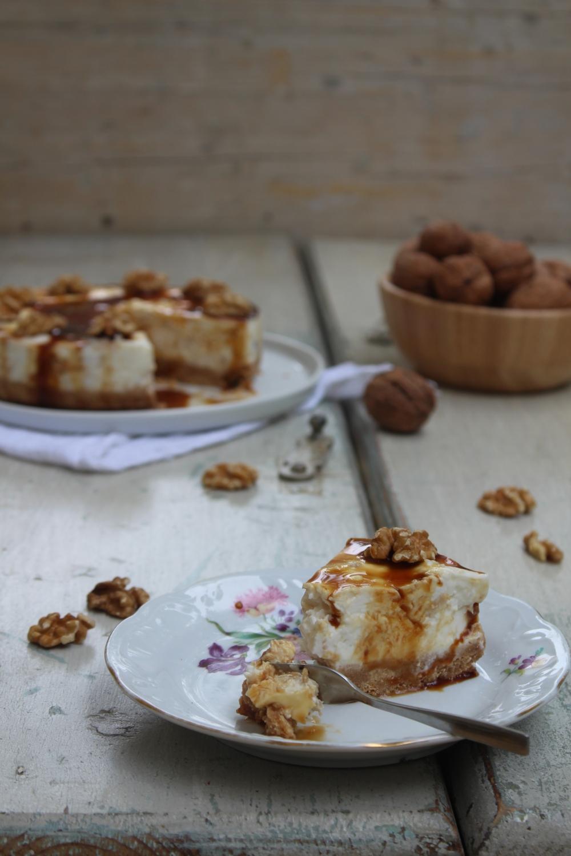 Cheesecake alle noci e caramello