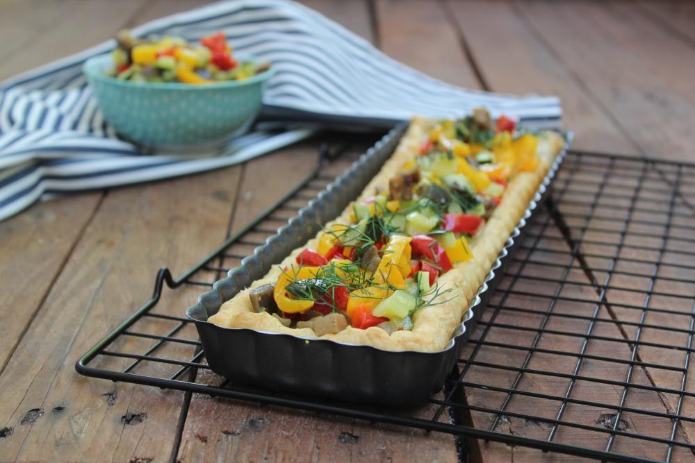 Crostata di sfoglia con verdure