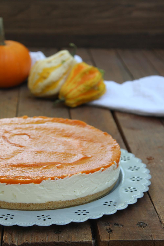Cheesecake senza cottura alla zucca