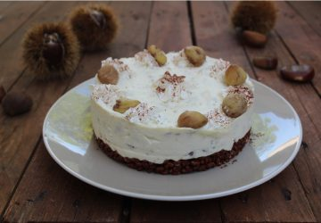 Cheesecake senza cottura alle castagne