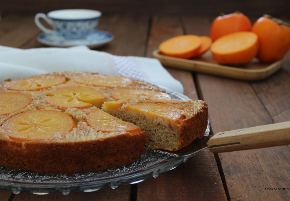 Torta rovesciata al caco mela