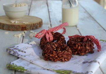 Ciambelline di riso soffiato e cioccolato