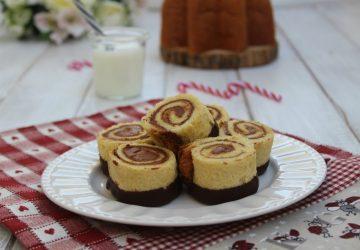 Girelle di pandoro e cioccolato