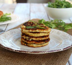 Pancake salati al topinambur