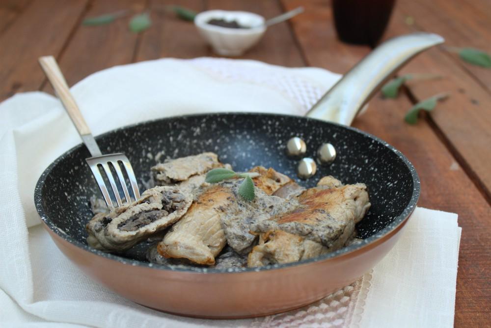 Involtini di arista con funghi e tartufo