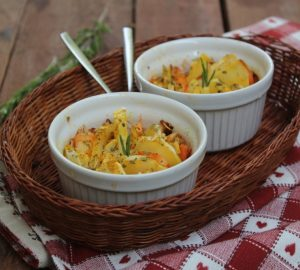 Coquette di patate e gamberi