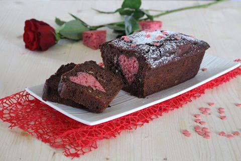 Plumcake al cioccolato con cuore