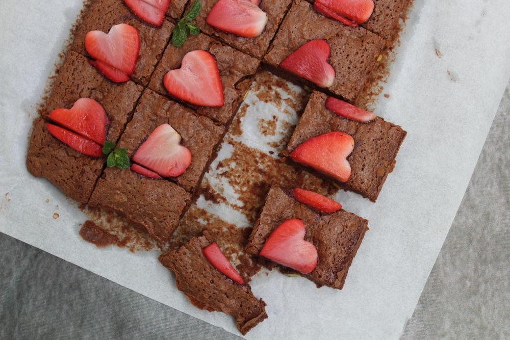 Brownies al cioccolato e pistacchi