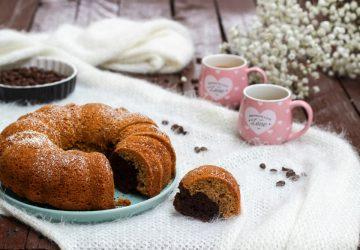 Ciambella caffè e ciocco senza lattosio