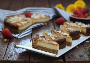 Cheesecake cotta alle mandorle