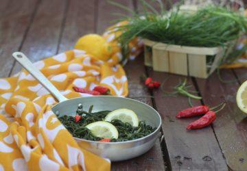 Agretti piccanti al limone