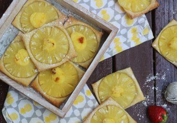 Sfogliatine con ananas e crema