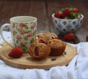 Muffin alle fragole e muesli