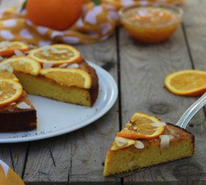Torta ebraica di mandorle e arance