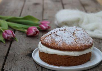Torta margherita con crema al mascarpone