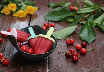 Ghiaccioli alle ciliegie