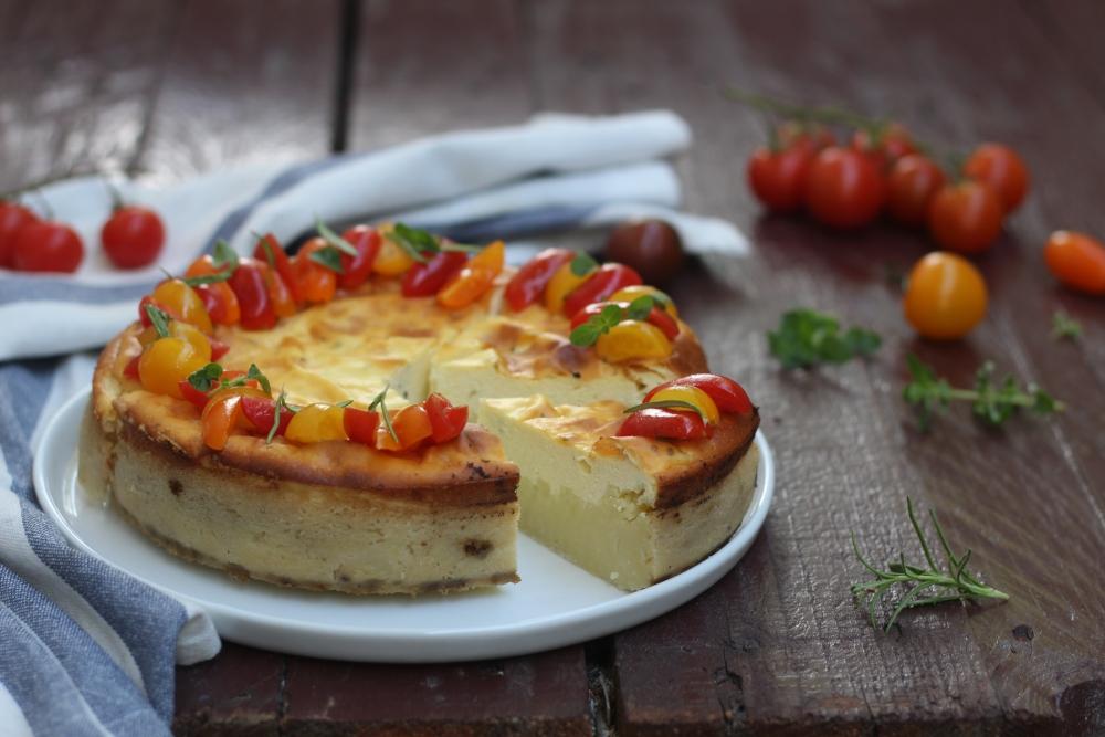 Cheesecake con patate ed erbe aromatiche