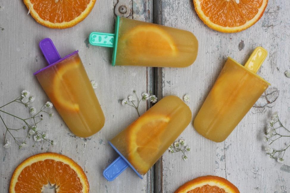 Ghiaccioli all'aranciata