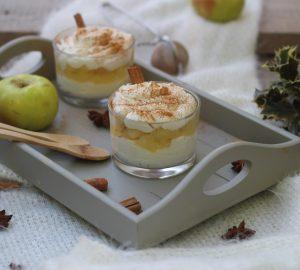 Mousse alla ricotta con mele